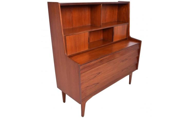 Mid-Century modern secretary/dresser closed