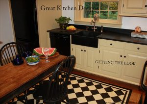 Layout sticks are typical for construction projects like kitchens.