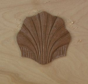 Carving a scallop shell isn't difficult, it's all in the layout.
