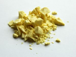 Sulphur inlay uses one of the most prevalent elements in the universe, sulfur.