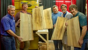 Loggin lunar lumber from the remaining log of the Kennedy Space Center Moon Tree was a once-in-a-lifetime experience for the whole team.
